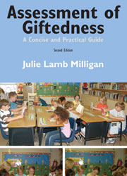 cover for Julie Lamb Milligan's Assessment of Giftedness A Concise and Practical Guide Second Edition