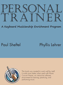 cover art of Paul Sheftel's and Phyllis Lehrer's Personal Trainer: A Keyboard Musicianship Enrichment Program series