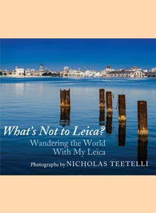 cover art of Nicholas Teetelli's upcoming title, What's Not to Leica